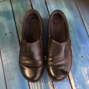 Clark's Chocolate Brown slip on leather Shoes
